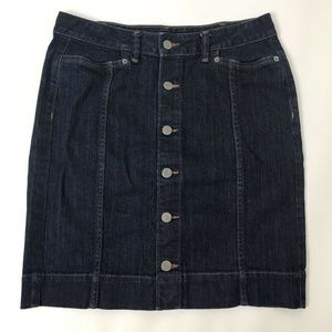 Banana Republic Mini Denim Pencil Skirt Blue Sz 4P